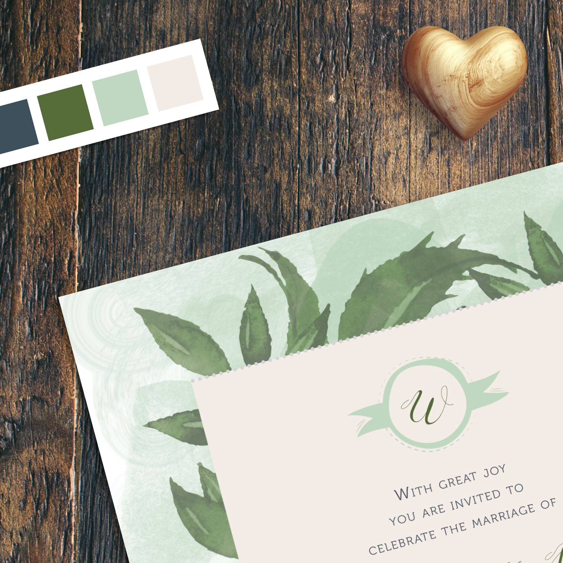 Soft Swash Wedding Invitation Collection